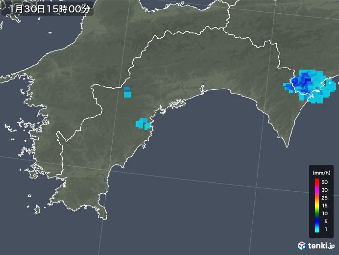 高知県の雨雲レーダー(2020年01月30日)