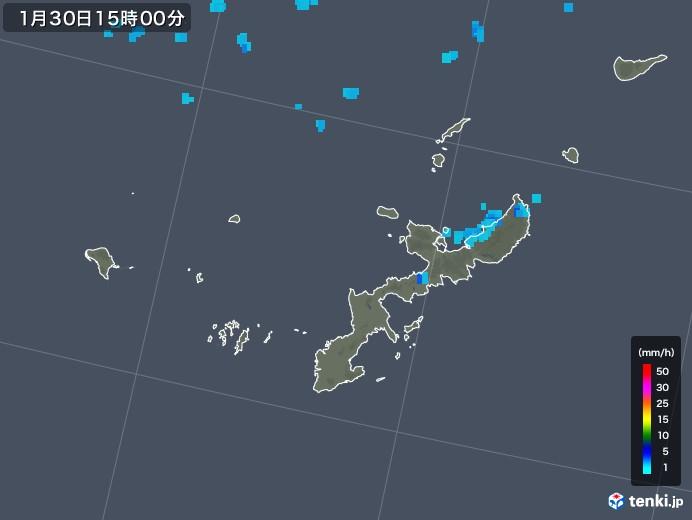 沖縄県の雨雲レーダー(2020年01月30日)