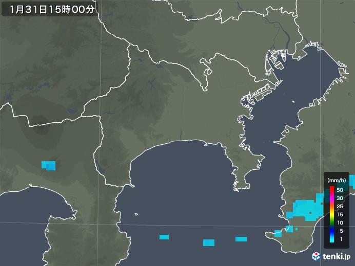 神奈川県の雨雲レーダー(2020年01月31日)