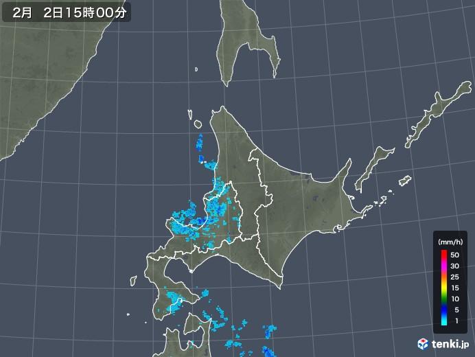 北海道地方の雨雲レーダー(2020年02月02日)
