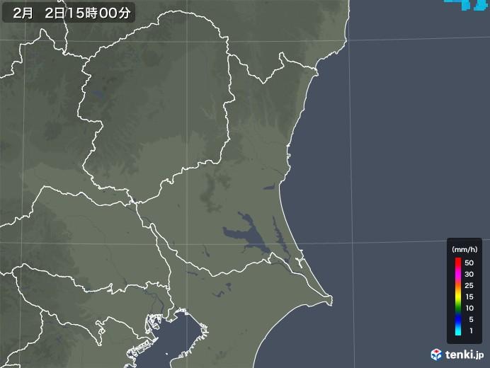 茨城県の雨雲レーダー(2020年02月02日)