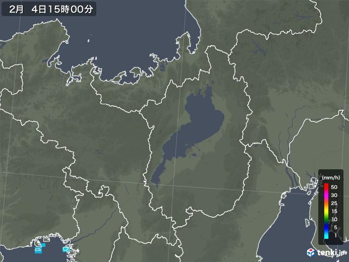 滋賀県の雨雲レーダー(2020年02月04日)