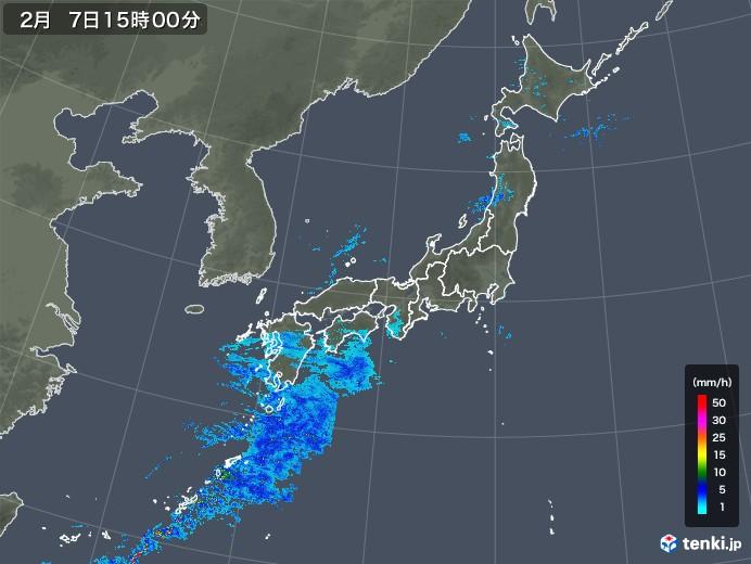 雨雲レーダー(2020年02月07日)