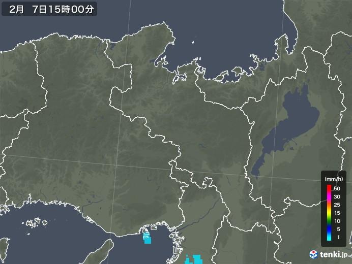 京都府の雨雲レーダー(2020年02月07日)