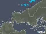 2020年02月07日の山口県の雨雲の動き