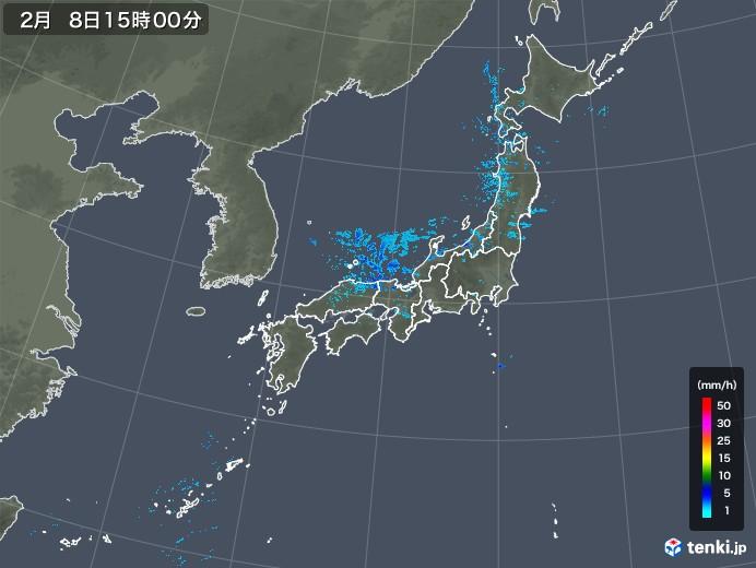雨雲レーダー(2020年02月08日)