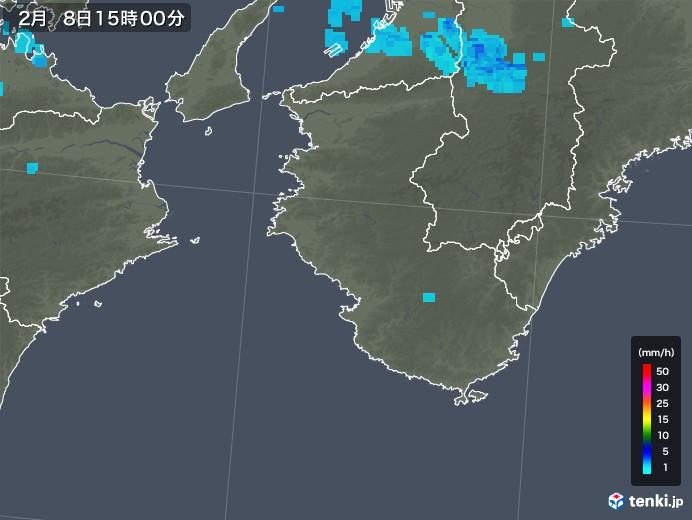 和歌山県の雨雲レーダー(2020年02月08日)