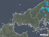 2020年02月08日の山口県の雨雲の動き