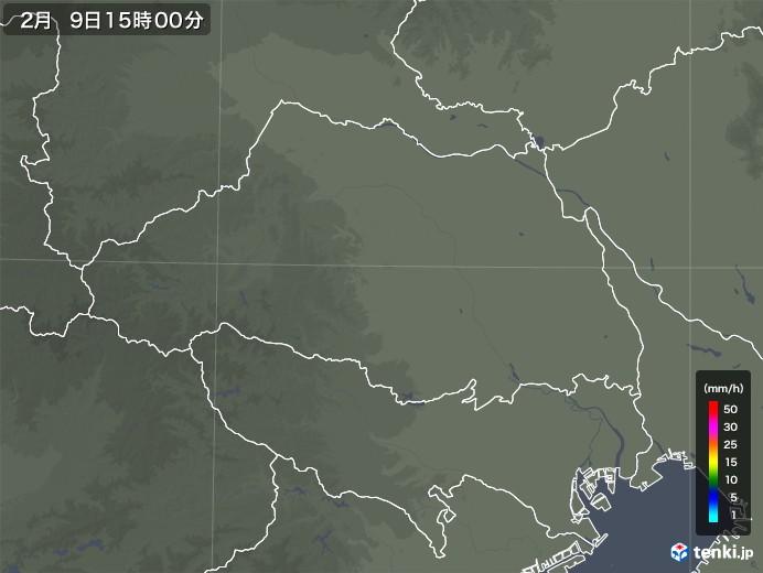 埼玉県の雨雲レーダー(2020年02月09日)