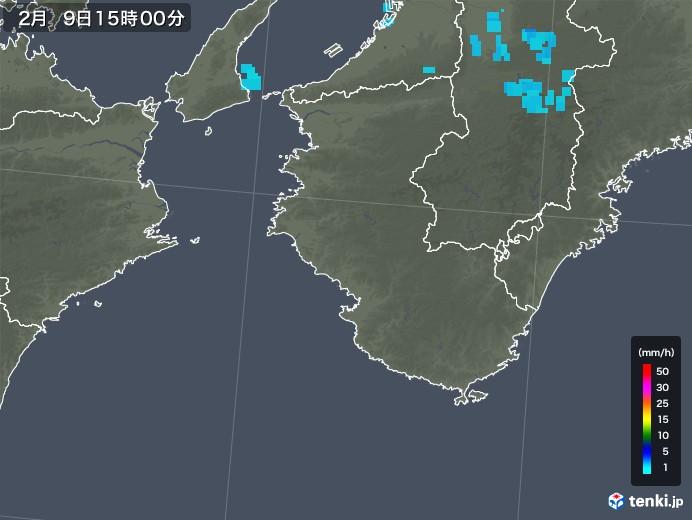 和歌山県の雨雲レーダー(2020年02月09日)