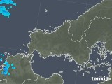2020年02月09日の山口県の雨雲の動き
