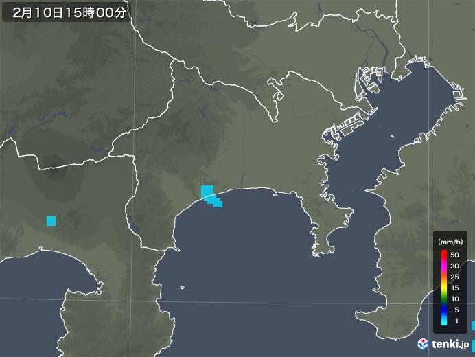 神奈川県の雨雲レーダー(2020年02月10日)