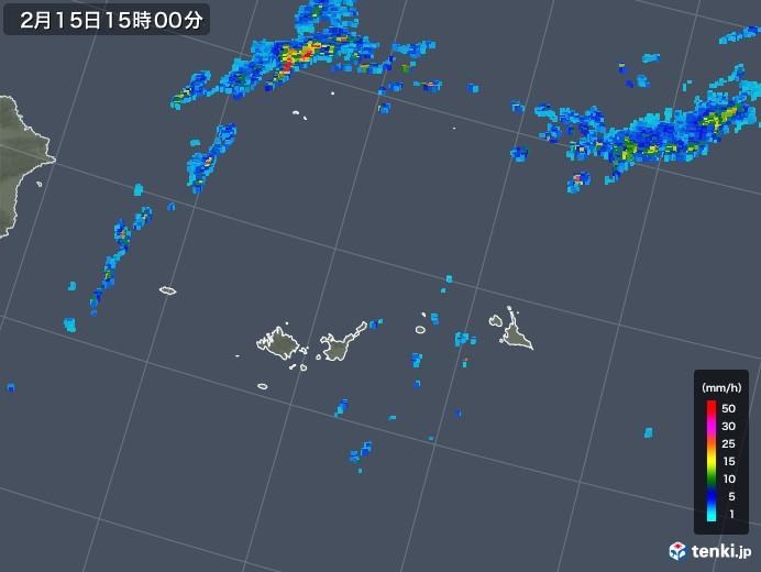 宮古・石垣・与那国(沖縄県)の雨雲レーダー(2020年02月15日)