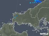 2020年02月16日の山口県の雨雲の動き