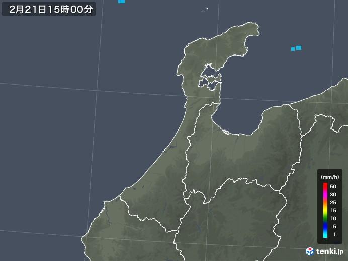 石川県の雨雲レーダー(2020年02月21日)