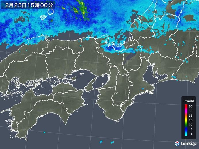 近畿地方の雨雲レーダー(2020年02月25日)