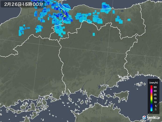 岡山県の雨雲レーダー(2020年02月26日)