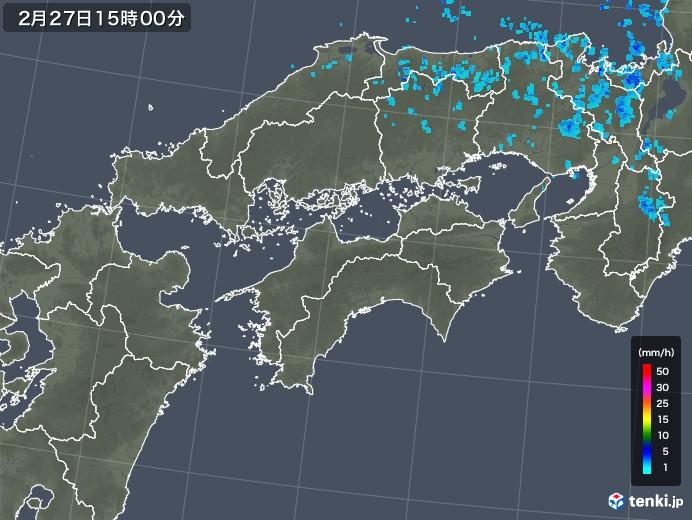 四国地方の雨雲レーダー(2020年02月27日)