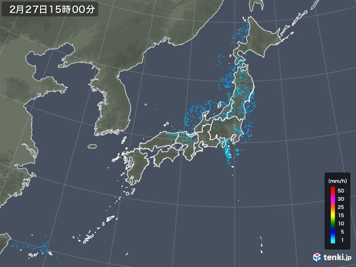 雨雲レーダー(2020年02月27日)