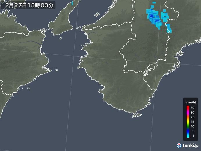 和歌山県の雨雲レーダー(2020年02月27日)