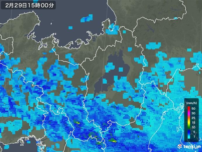 滋賀県の雨雲レーダー(2020年02月29日)