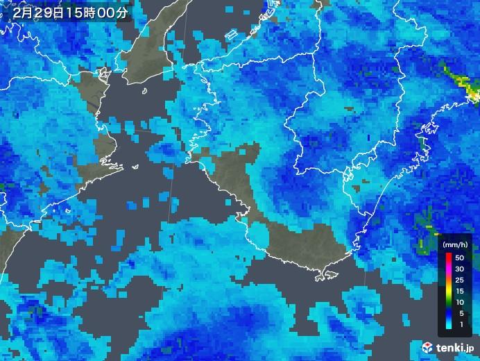 和歌山県の雨雲レーダー(2020年02月29日)