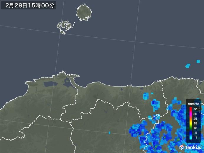 鳥取県の雨雲レーダー(2020年02月29日)