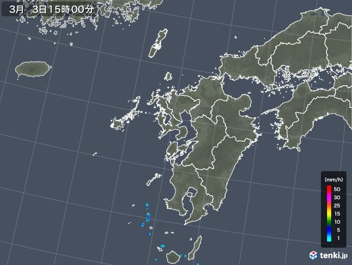 九州地方の雨雲レーダー(2020年03月03日)