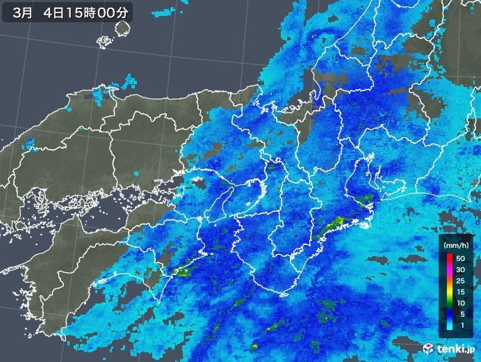 近畿地方の雨雲レーダー(2020年03月04日)