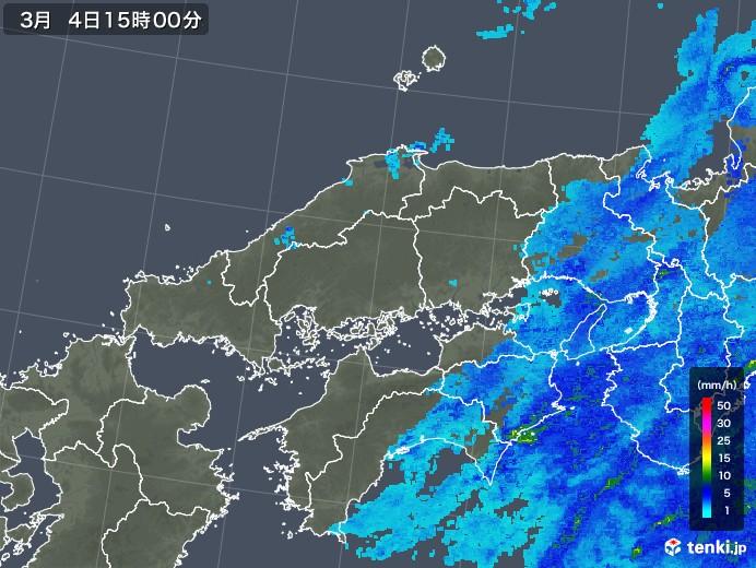 中国地方の雨雲レーダー(2020年03月04日)