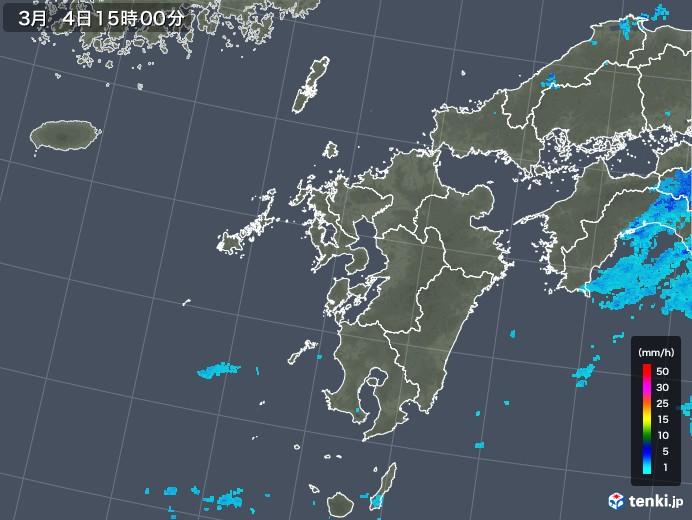 九州地方の雨雲レーダー(2020年03月04日)