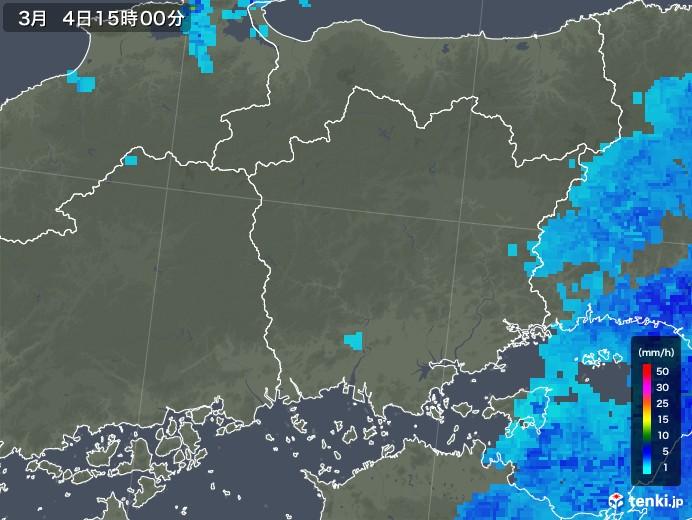 岡山県の雨雲レーダー(2020年03月04日)