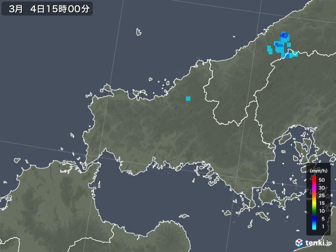 山口県の雨雲レーダー(2020年03月04日)
