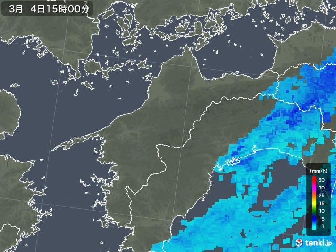 愛媛県の雨雲レーダー(2020年03月04日)