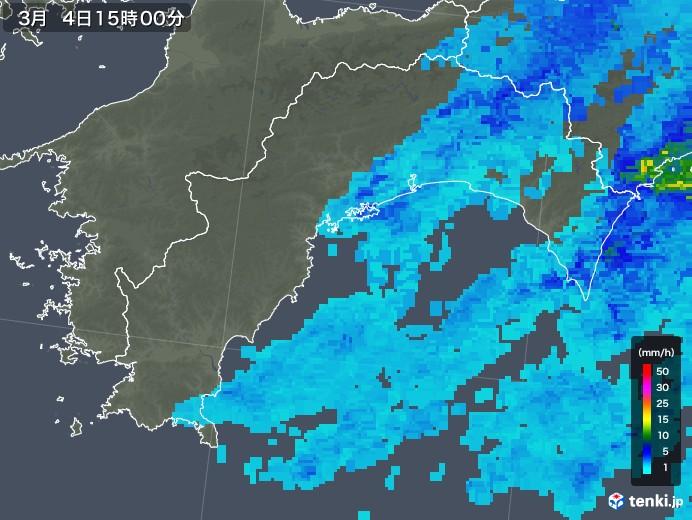 高知県の雨雲レーダー(2020年03月04日)