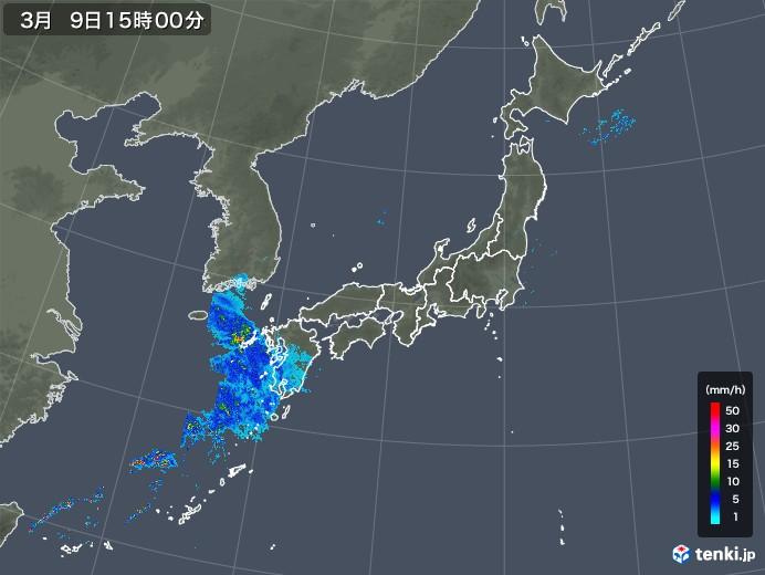 雨雲レーダー(2020年03月09日)