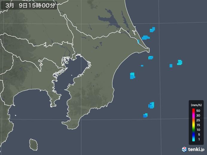 千葉県の雨雲レーダー(2020年03月09日)