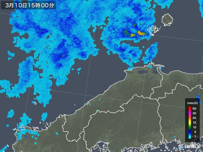 島根県の雨雲レーダー(2020年03月10日)