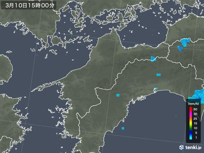 愛媛県の雨雲レーダー(2020年03月10日)