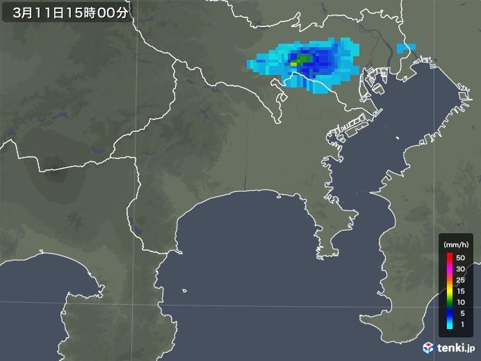 神奈川県の雨雲レーダー(2020年03月11日)