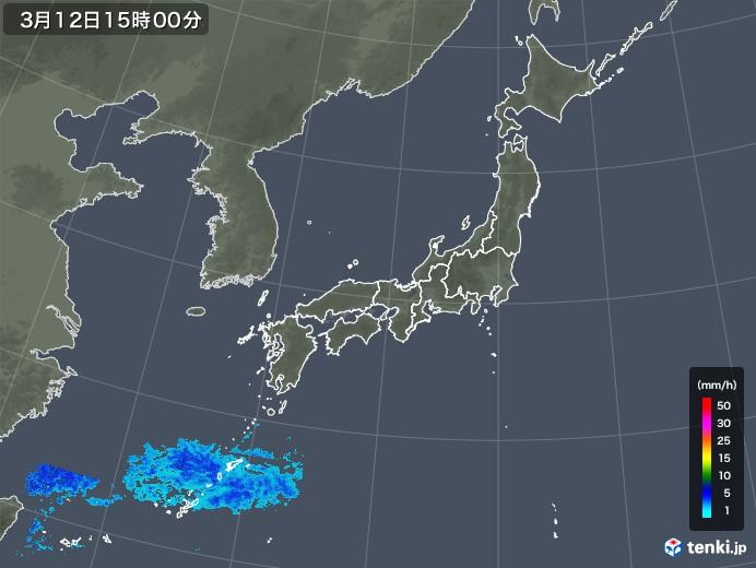 雨雲レーダー(2020年03月12日)