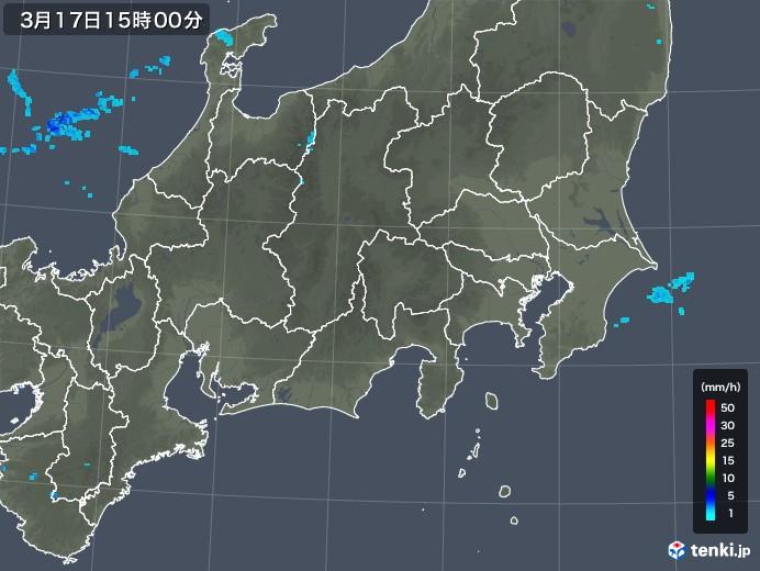 関東・甲信地方の雨雲レーダー(2020年03月17日)