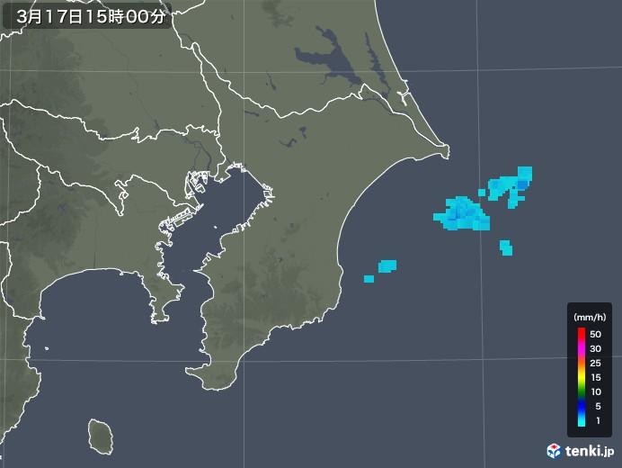 千葉県の雨雲レーダー(2020年03月17日)