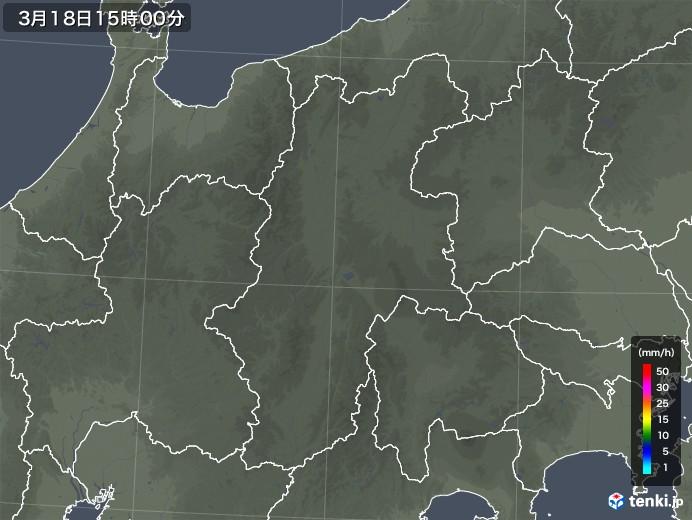 長野県の雨雲レーダー(2020年03月18日)