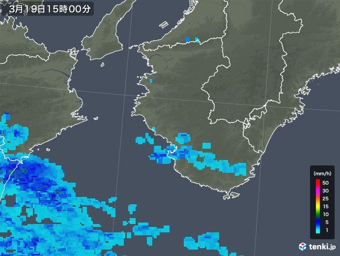 和歌山県の雨雲レーダー(2020年03月19日)