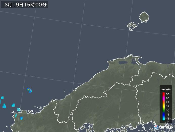 島根県の雨雲レーダー(2020年03月19日)