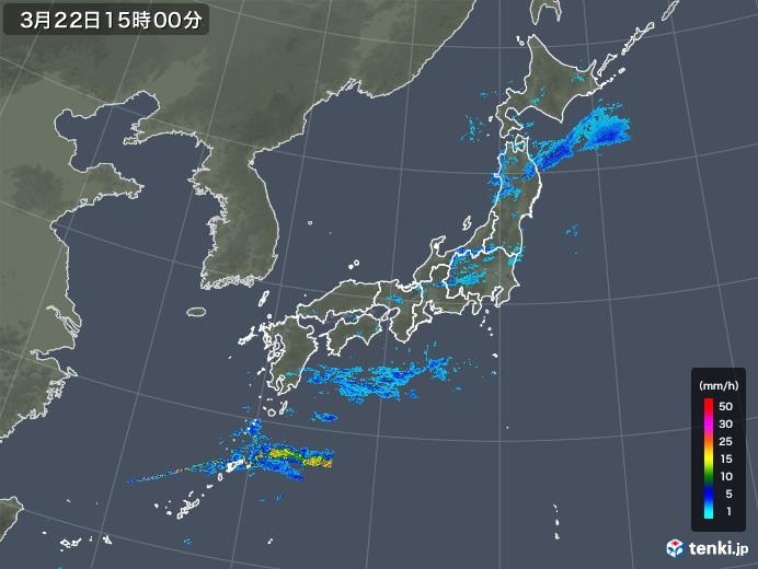 雨雲レーダー(2020年03月22日)