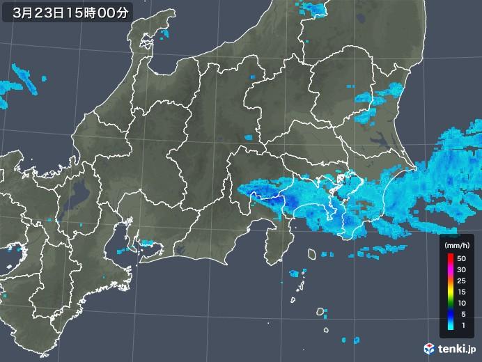 関東・甲信地方の雨雲レーダー(2020年03月23日)
