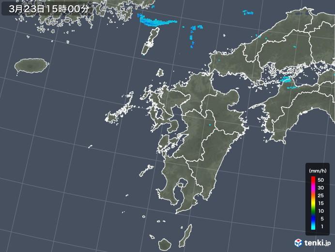 九州地方の雨雲レーダー(2020年03月23日)