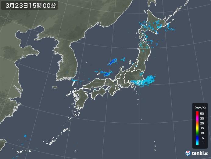雨雲レーダー(2020年03月23日)